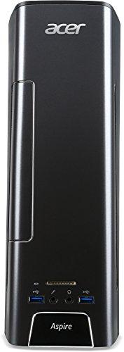 Acer Aspire X3 (X3-710) Desktop PC (Intel Core i5-6400, 8GB RAM, 128GB SSD + 1000GB HDD, NVIDIA GeForce GTX 745, DVD, Win 10 Home) schwarz