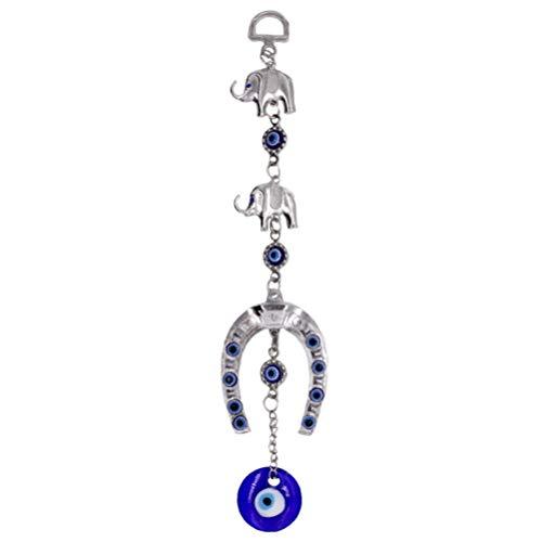 VOSAREA Türkisch Blau Böser Blick Hängen Ornament Elefant Blau Auge Türkisch Amulett Nazar Perle Wandbehang Anhänger Viel Glück Segen Charme für Zuhause Auto Dekoration