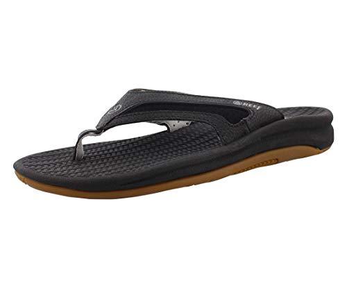 Reef Flex, Sandalias Flip-Flop Hombre, Negro-Noir (Black/Silver), 43