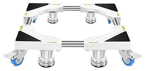 Electrodomésticos en movimiento multifuncional, base de lavadora ajustable, pedestal de soporte de refrigerador móvil, con 4 ruedas de bloqueo y 4/8 patas de paréntesis universal. ( Size : 4 legs )