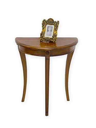 Konsolentisch halbrund im antiken Stil   Wandtisch Tisch   Massivholz Nussbaum Farbton (3364)