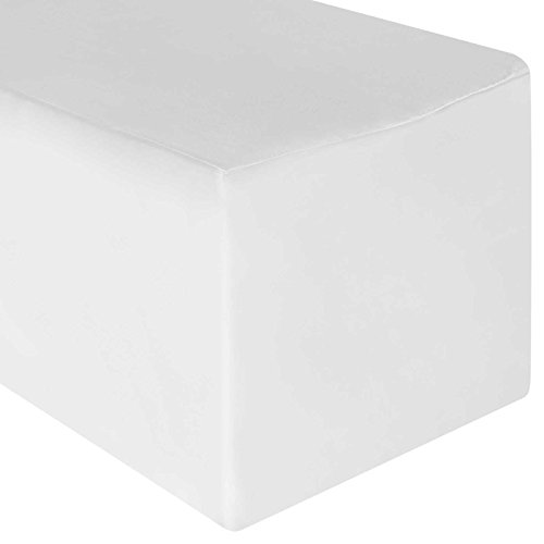 Lann's Linens - 8' Premium Fitted Tablecloth for 96' x 30' Rectangular Table - Wedding/Banquet/Trade Show - Polyester Cloth Fabric Cover - White
