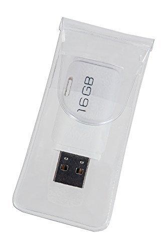 100 selbstklebende USB-Hüllen aus durchsichtiger Folie, offenes Maß: 40 x 126 mm