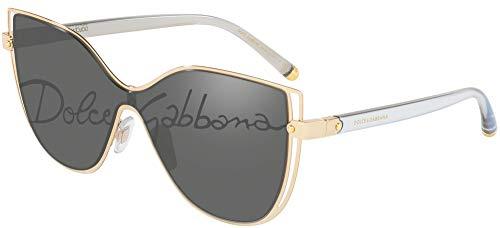 Dolce & Gabbana DG2236 Gold/Dark Grey Tampo Corsivo One Size