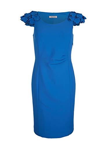 Alba Moda Kleid mit femininen Rüschen Blau
