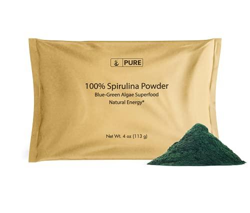 Spirulina Powder (4 oz) Blue-Green Algae Superfood with Phycocyanin