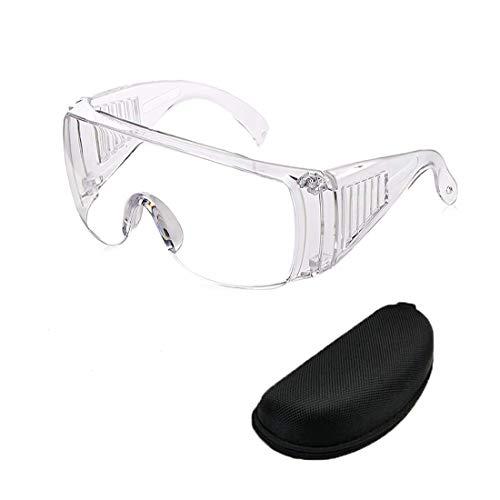 Duoying veiligheidsbril, stofdichte/spatbestendige bril, buitenwerk UV-beschermingsbril heldere lensbril voor constructie, laboratorium, chemie