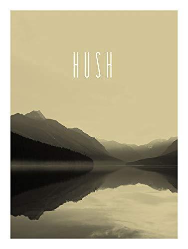 Komar muurschildering Word Lake Hush zand | Poster, afbeelding, woonkamer, slaapkamer, decoratie, kunstdruk | zonder lijst | in drie maten verkrijgbaar