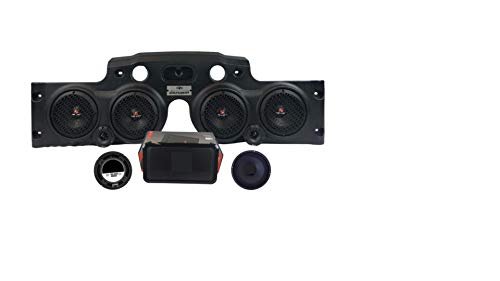 American Soundbar JK/JKU Wrangler Overhead Sound System Fully Equipped (Black)