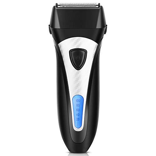 Rasoio Barba Elettrico Uomo Regolabarba Tre Lame Ricaricabile con Indicatore LCD Batteria di ELEHOT