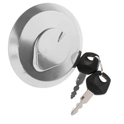 H HILABEE Motorrad Metall Tankdeckel Tankverschluss mit 2 Schlüssel für Honda CM125 CBT125, Hitzebeständig, Korrosionsbeständig