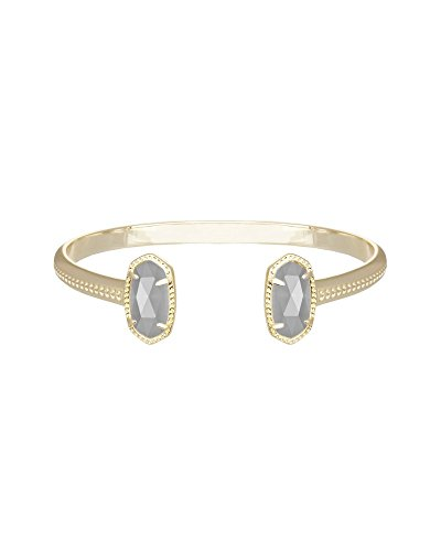Kendra Scott Signature Elton Cuff Bracelet (Gold/Slate Glass)