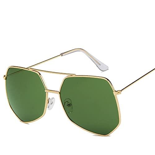 AMFG Gafas De Sol Retro Gafas De Sol Big Frame Metal Gafas De Sol (Color : G)