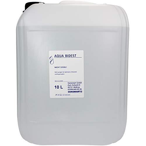 Aqua Bidest bidestilliertes Wasser verschiedene Größen, Größen:10 L