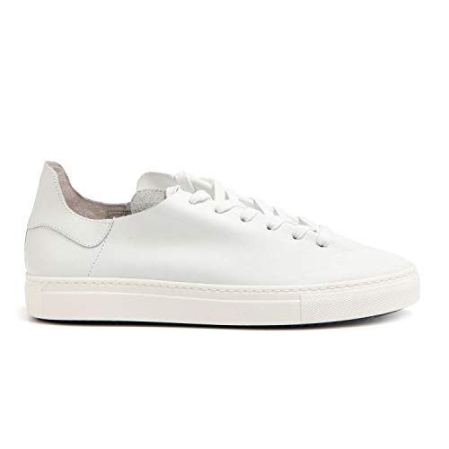 Stokton - Sneakers in White Unlined Leather - 752 UCALF Bianco - 45