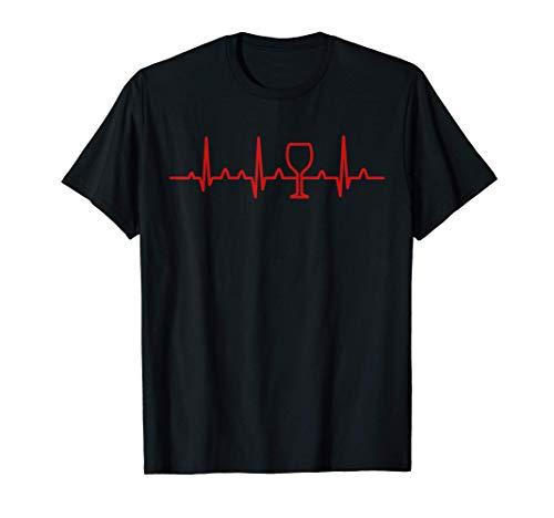 EKG Wine Funny Wine Heartbeat Pulse Gift Camiseta