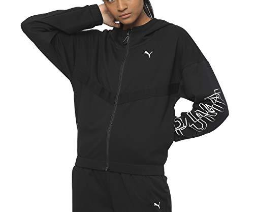 PUMA Dames HIT Feel It Sweat Jacket Trainingsjas, Zwart, XL