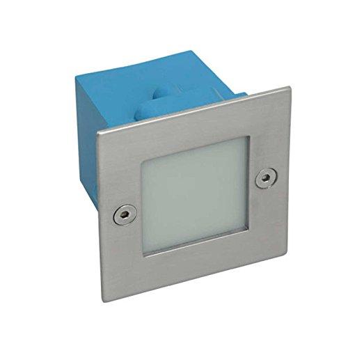 Applique led extérieur encastrable carré 1.5 watt - IP54 - Couleur eclairage - Blanc neutre 511_2803