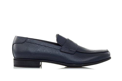Prada Schuhe 'Saffiano' Leather Penny Loafers-40 Uomo Blau