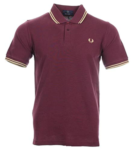 Fred Perry Twin Tipped - Polo de manga corta para hombre bur