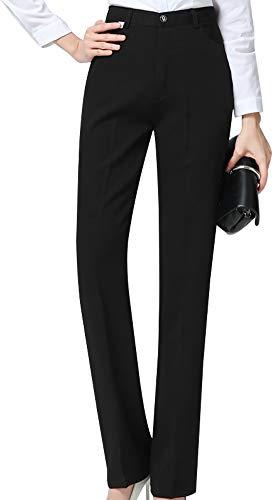 CYSTYLE Damen Hohe Taille Gerade Hose Kellnerhose Anzug Hose Anzughose Service Classic Style (S)