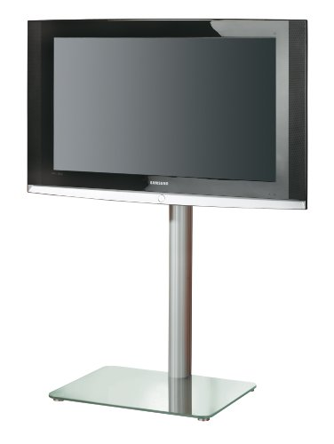 VCM Alina LCD-Standfuß Aluminium Mattglas