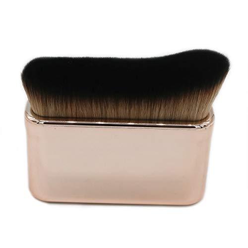 Luckycivia Pinceau de maquillage professionnel haute densité Kabuki pour fond de teint liquide, poudre, crème, lotion