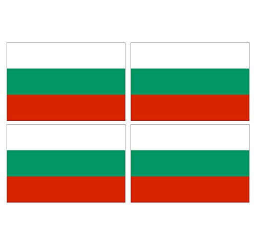 Supstick Sticker, zelfklevend, vlag van Bulgaarë, formaat 12 x 8 cm, 4 stuks