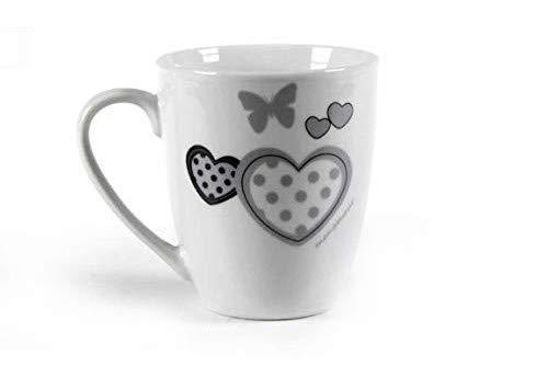 Gicos Tazza Colazione Mug 360cc in Porcellana monamour Shabby Chic Latte caffè ELI-684371