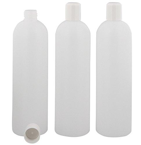 Leere Flasche, Kunststoff, m. Spritzeinsatz, 500 ml Kosmetex BOSTON, Plastik, halbtransparent, 3 x 500ml
