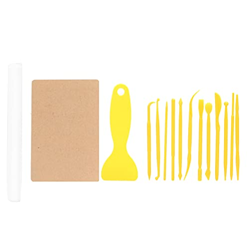 17 piezas de herramientas de arcilla, juego de herramientas de tallado de arcilla para niños principiantes, arte experto