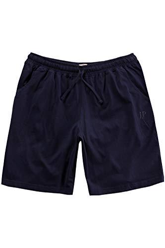 JP 1880 Herren große Größen bis 8XL, Schlafanzug-Hose, Shorts, Kurze Pyjama-Hose, Jogging-Hose aus 100% Baumwolle, Sweatpants Navy 6XL 708405 76-6XL