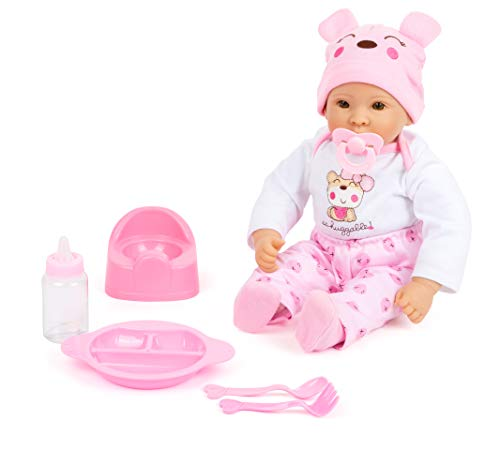 11522 Muñeca para bebé niña con Accesorios, Small Foot, Juegos de Roles, con Cuerpo Blando, 5 Piezas