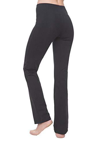 "Nirlon Women's Straight Leg Yoga Pants High Waist Leggings (Small 28"" Inseam, Charcoal)"