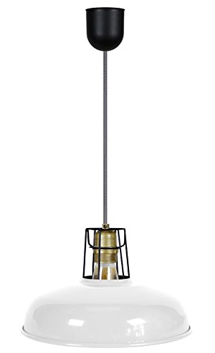 Tosel 16954Suspensión 1luz, acero, E27, 40W, amarillo, 26x 90cm