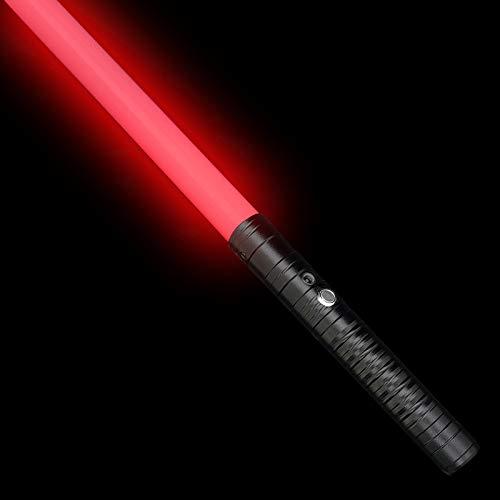 LOYALSE Metal Lightsaber LED Light Saber Power FX Sword Heavy Duel, Rechargeable Lightsaber with Sound and Highlight Lights, Metal Hilt Sword, Christmas Toy Gift