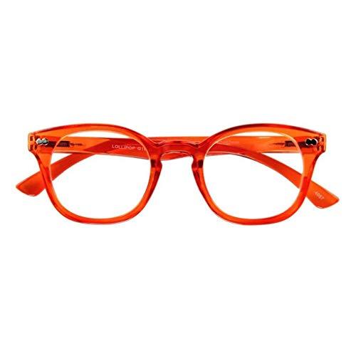 Lesebrille LOLLIPOP, orange, 1.00 dpt.: Lesebrille mit Federtechnik, Stärke: +1.00 dpt. (in weiteren Farben/Stärken erhältlich)