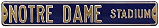 Authentic Street Signs 70111 Notre Dame Stadium, Heavy Duty, Metal Street Sign Wall Decor, 36