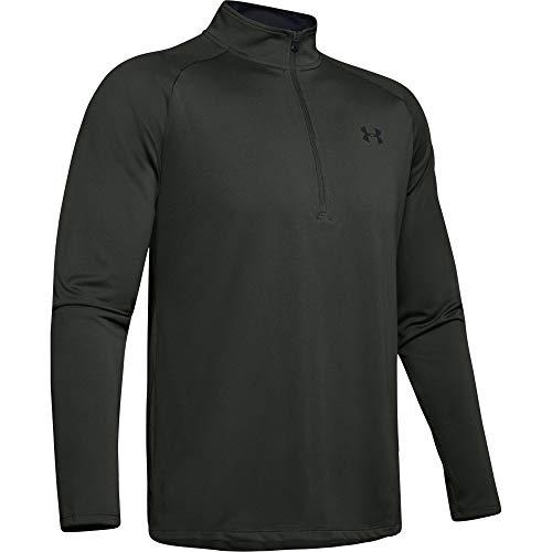 Under Armour Men's Tech 2.0 1/2 Zip-Up T-Shirt, Baroque Green (311)/Black, Large