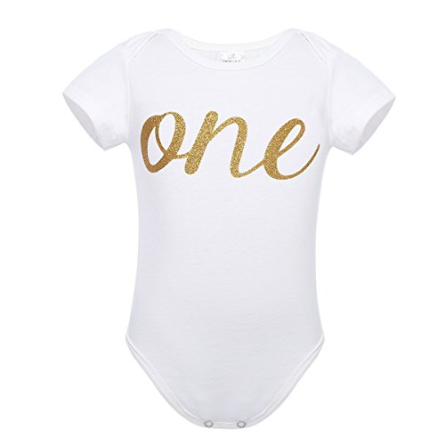 Freebily Baby Body Overalls Strampler Spielanzug Baumwolle Bekleidung 1. Geburtstag Party Outfits 80 86 92 Muster von one 80