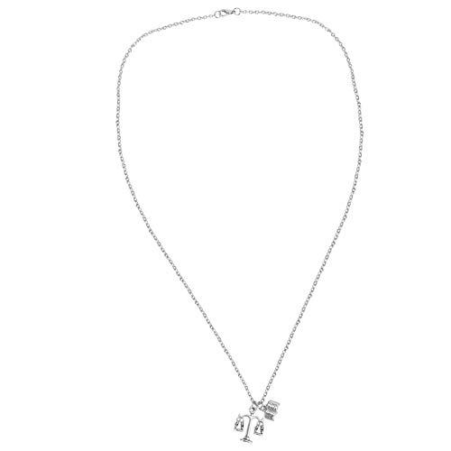 Holibanna 3Pcs Kreative Waage Der Gerechtigkeit Halskette Elegante Buchkette Halskette Legierung Metall Balance Waage Anhänger Freundschaft Kette Halsketten Hals Schmuck Geschenk für