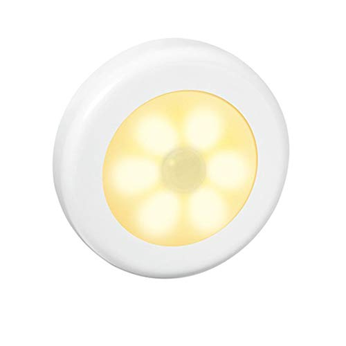 XHSHLID wandlamp, 6 LED's, op batterijen, nachtlampje, kast, gang, kast, LED, lichtsensor