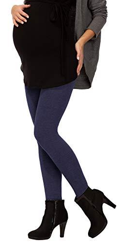 BeLady Thermo-leggings voor dames, voor zwangere enkels, van katoen, met zachte, warme binnenfleece afslankbroek, met hoge band, zwart, donkerblauw, grafiet-grijs