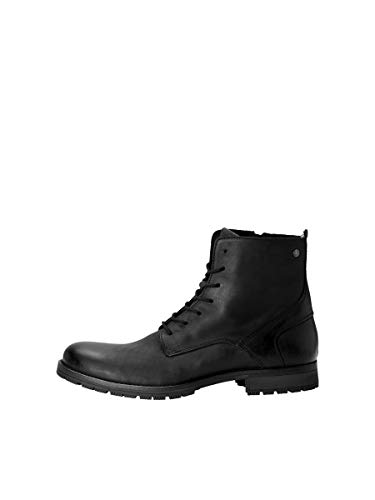 JACK & JONES JFWORCA Leather 19 STS, Chukka Boots Homme, Gris(Anthracite Anthracite), 40 EU
