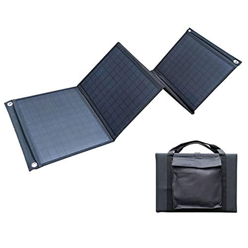 ZXYWW Panel Solar 100W, Cargador de Panel Solar portátil Plegable con Doble Puerto USB y typec, para cámara de Tableta portátil de teléfono de Camping al Aire Libre