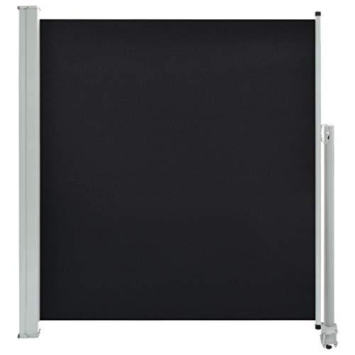 vidaXL Seitenmarkise Ausziehbar 140x300 cm Schwarz Sichtschutz Sonnenschutz