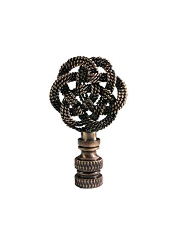 Royal Designs, Inc. Decorative Celtic Knot Lamp Finial Antique Brass Finish (Single)