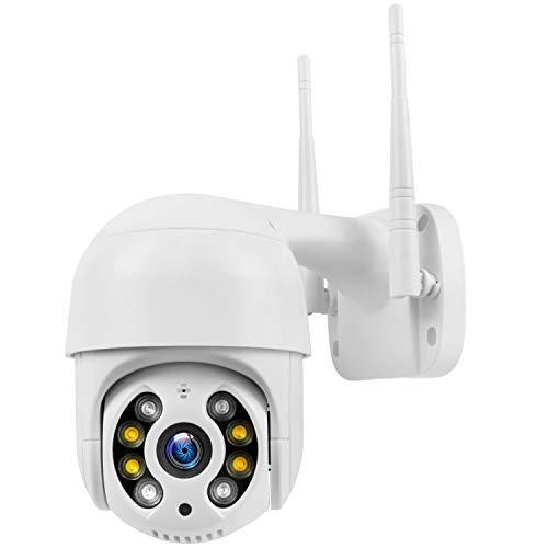 PTZ Camara Vigilancia Exterior Visión Nocturna 30m y Detección de Movimiento Alarma, Audio Bidireccional, Compatible con Android/iOS