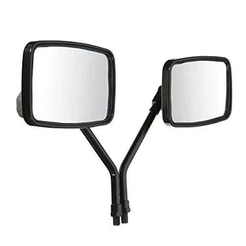Espejos Laterales de la Vista Trasera del rectángulo Negro de la Rosca de 10 mm para la Scooter de la Motocicleta A & TV Espejo retrovisor práctico