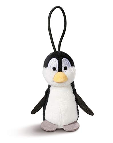 NICI 43619 Anhänger Pinguin mit elastischer Schlaufe, 8 cm, weiß/schwarz